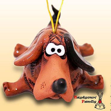 Сувениры и подарки ручной работы. Ярмарка Мастеров - ручная работа Собака, символ 2018 года. Собака. керамический колокольчик. Handmade.