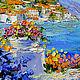 """Пейзаж ручной работы. """"Цветочный Бриз"""" - картина маслом Испания. ЯРКИЕ КАРТИНЫ Наталии Ширяевой. Ярмарка Мастеров. Средиземноморье"""