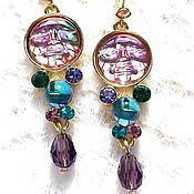 Винтаж handmade. Livemaster - original item Pink Moon earrings, Kirks Folly, USA, in a gift box. Handmade.