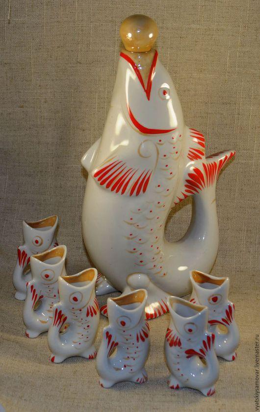 Винтажная посуда. Ярмарка Мастеров - ручная работа. Купить Набор для ликера Рыбки Полонский ЗХК 70-е годы. Handmade.