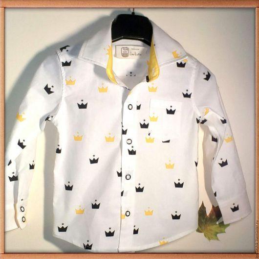 Одежда для мальчиков, ручной работы. Ярмарка Мастеров - ручная работа. Купить Рубашка для маленького принца. Handmade. Желтый, рубашка на заказ