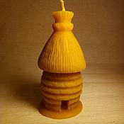 Свечи ручной работы. Ярмарка Мастеров - ручная работа Восковая свеча колода. Handmade.