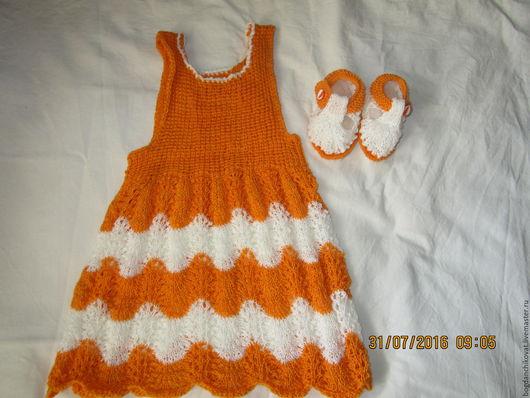 Одежда для девочек, ручной работы. Ярмарка Мастеров - ручная работа. Купить Комплект для девочки до года.. Handmade. Комбинированный, розовый, для девочки