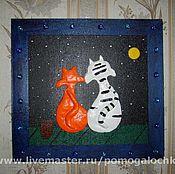 """Картины и панно ручной работы. Ярмарка Мастеров - ручная работа Панно """"Влюблённые на крыше"""". Handmade."""