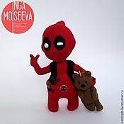 Куклы и игрушки ручной работы. Ярмарка Мастеров - ручная работа Кукла войлочная Бэби-Дэдпул. Handmade.