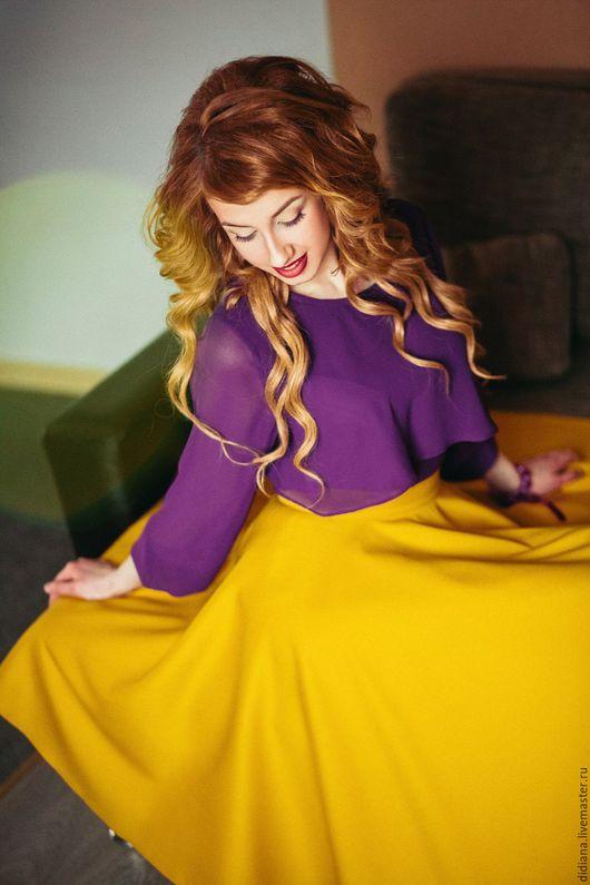 Блузки ручной работы. Ярмарка Мастеров - ручная работа. Купить Блуза Лаванда. Handmade. Тёмно-фиолетовый, блузка из шифона, фиолетовый