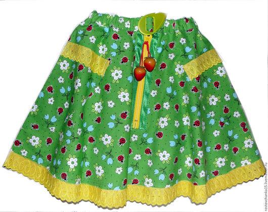 Юбки ручной работы. Ярмарка Мастеров - ручная работа. Купить Юбка для девочки в стиле бохо Летнее настроение. Handmade. юбка