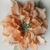 Цветы и флористика handmade. Livemaster - original item Silk flowers. Rose silk. Brooch