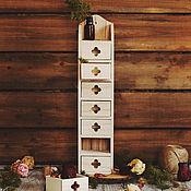 Материалы для творчества ручной работы. Ярмарка Мастеров - ручная работа Комодик деревянный 9 х 8 х 40 см. Handmade.