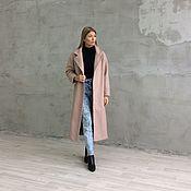 Одежда ручной работы. Ярмарка Мастеров - ручная работа Пальто осеннее цвета пудры. Handmade.