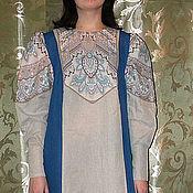 """Одежда ручной работы. Ярмарка Мастеров - ручная работа платье льняное """" Первые подснежники"""". Handmade."""