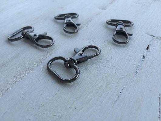 Шитье ручной работы. Ярмарка Мастеров - ручная работа. Купить Карабин металлический, цвет темный никель, 20 мм.. Handmade.