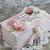 """Подарки к праздникам ручной работы. Ярмарка Мастеров - ручная работа Коробочка """"Мамины сокровища"""". Handmade."""