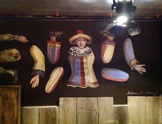 Декор поверхностей ручной работы. Ярмарка Мастеров - ручная работа. Купить Роспись стен -марионетки Дель Арте. Handmade.