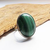 Украшения handmade. Livemaster - original item Ring with malachite malachite Tale 19.5 size. Handmade.