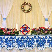 """Свадебный салон ручной работы. Ярмарка Мастеров - ручная работа Свадьба в стиле """"Гжель"""". Handmade."""
