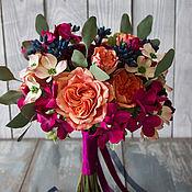 Свадебные букеты ручной работы. Ярмарка Мастеров - ручная работа Букет невесты с коралловыми розами свадебный букет. Handmade.