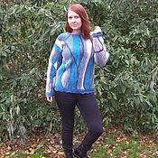 """Одежда ручной работы. Ярмарка Мастеров - ручная работа Вязаная кофта """"Конец зимы в парке"""", стильная вязаная кофта. Handmade."""