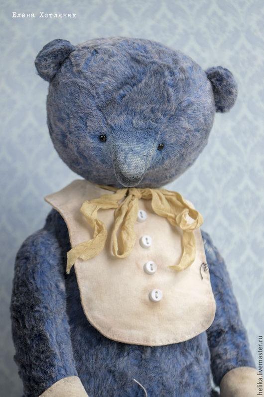 Мишки Тедди ручной работы. Ярмарка Мастеров - ручная работа. Купить Толик. Handmade. Синий, теддик, винтаж, тедди медведи