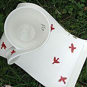 "Посуда ручной работы. Ярмарка Мастеров - ручная работа Чайная пара ""Птицы"". Handmade."