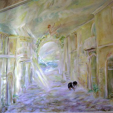 """Картины и панно ручной работы. Ярмарка Мастеров - ручная работа """"Город Солнца""""-фреска-барельеф.. Handmade."""