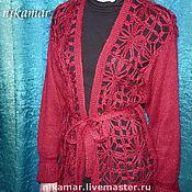 """Одежда ручной работы. Ярмарка Мастеров - ручная работа Кардиган """"Вишневый"""". Handmade."""