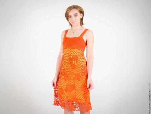 Платья ручной работы. Ярмарка Мастеров - ручная работа. Купить Платье вязаное крючком. Handmade. Летнее платье