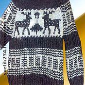Одежда ручной работы. Ярмарка Мастеров - ручная работа Свитер шерстяной с оленями. Handmade.