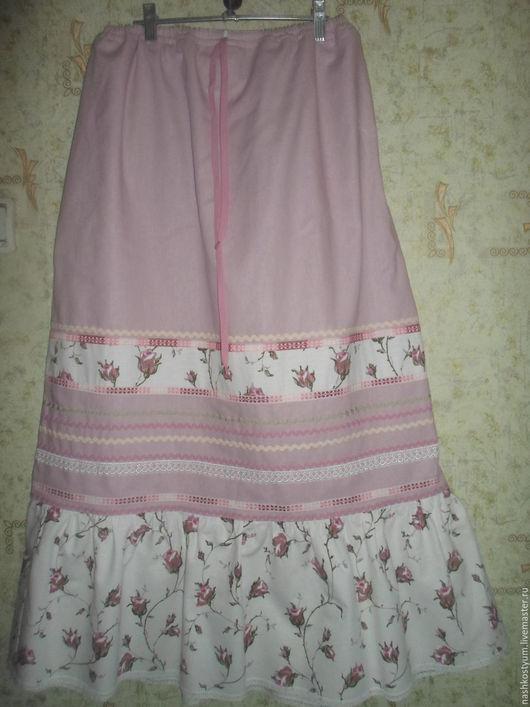 Одежда ручной работы. Ярмарка Мастеров - ручная работа. Купить юбка льняная. Handmade. Юбка длинная, из льна, юбка