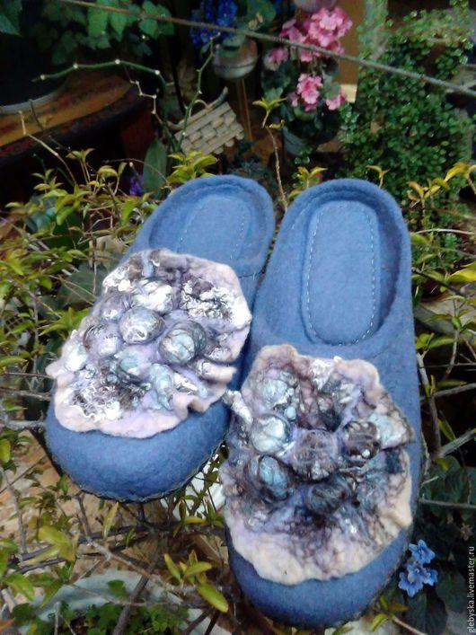 """Обувь ручной работы. Ярмарка Мастеров - ручная работа. Купить тапочки """"Сумерки"""". Handmade. Комбинированный, домашняя обувь"""