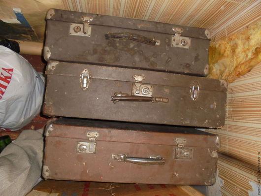 Реставрация. Ярмарка Мастеров - ручная работа. Купить Старинные чемоданы.. Handmade. Коричневый, материалы для творчества