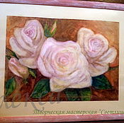 Картины и панно handmade. Livemaster - original item Painting Roses in shabby chic style. Watercolor. Handmade.