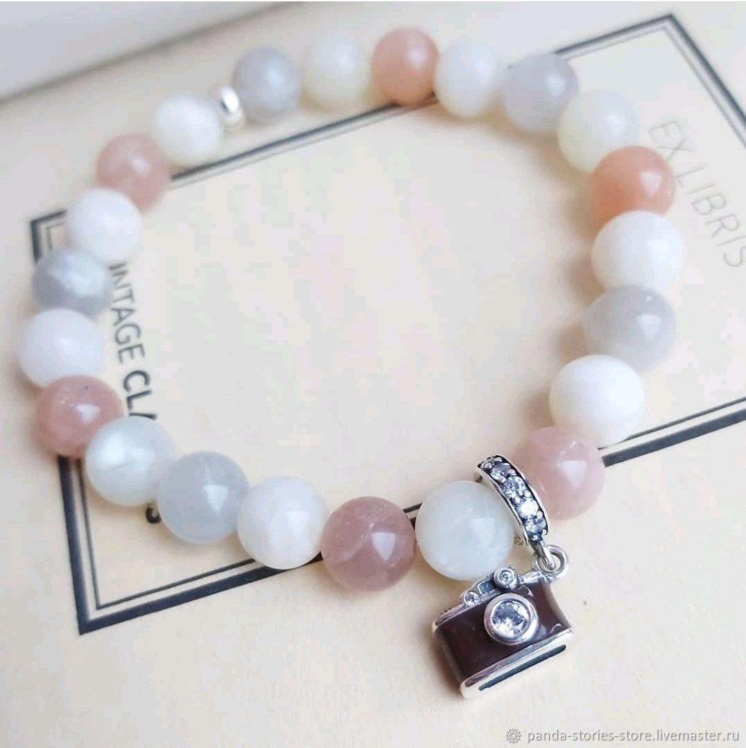 Camera bracelet, Sunstone, silver, Bead bracelet, Moscow,  Фото №1