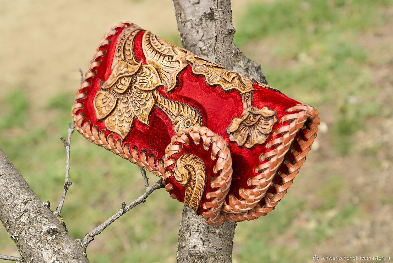 Women's leather wallet 'Tropical flower', Wallets, Krasnodar,  Фото №1