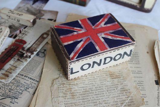 """Настольные визитницы ручной работы. Ярмарка Мастеров - ручная работа. Купить Визитница """"LONDON"""". Handmade. Тёмно-синий, подарок юноше"""