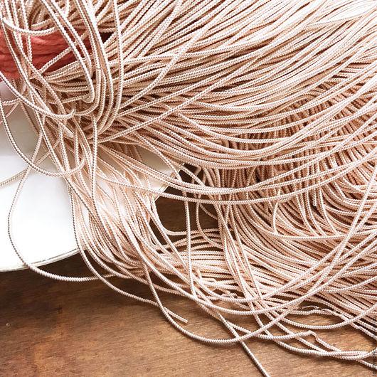 Вышивка ручной работы. Ярмарка Мастеров - ручная работа. Купить Канитель, витая канитель, 1,5 мм, розовое золото, мягкая канитель. Handmade.