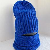 Аксессуары ручной работы. Ярмарка Мастеров - ручная работа Детская шапка бини + снуд крючком из хлопка. Handmade.
