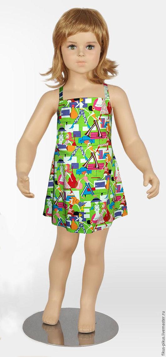 Платья ручной работы. Ярмарка Мастеров - ручная работа. Купить Сарафан. Handmade. Одежда для девочек, сарафан для девочки, хлопок, сарафан