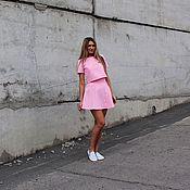 Одежда ручной работы. Ярмарка Мастеров - ручная работа Розовый костюм: юбка и топ. Handmade.