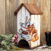 """Для дома и интерьера ручной работы. Ярмарка Мастеров - ручная работа Чайный домик """" Кофе и круассаны"""". Handmade."""