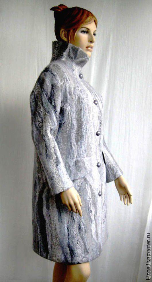 Пиджаки, жакеты ручной работы. Ярмарка Мастеров - ручная работа. Купить Пальто валяное Серая жемчужина. Handmade. Серый