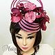 """Шляпы ручной работы. Ярмарка Мастеров - ручная работа. Купить Ободок-шляпка """"Розовая орхидея"""". Handmade. Розовый, шляпка женская"""