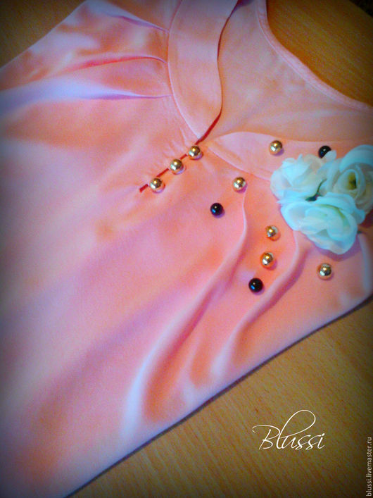 """Блузки ручной работы. Ярмарка Мастеров - ручная работа. Купить Блузка """"Чайная роза"""". Handmade. Блузка, вискоза"""