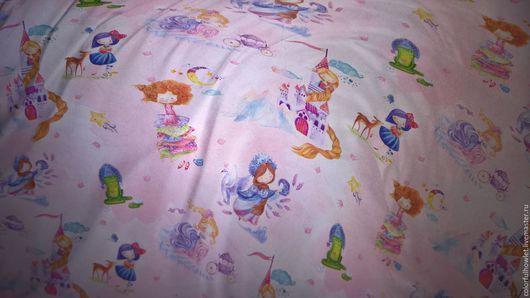 ткань для постельного белья, детская ткань, ткань с детским рисунком, ткань с принцессами, ткань для бортиков, ткань для творчества, ткань для детей, детский хлопок.