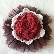 Украшения handmade. Livemaster - original item Brooch textile ( 1). Handmade.