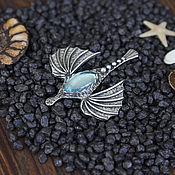 Украшения ручной работы. Ярмарка Мастеров - ручная работа Морской пегас - кулон с голубым топазом, pegasus. Handmade.
