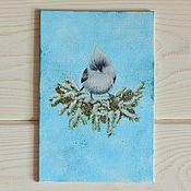 Картины и панно ручной работы. Ярмарка Мастеров - ручная работа Зимняя птичка. Handmade.