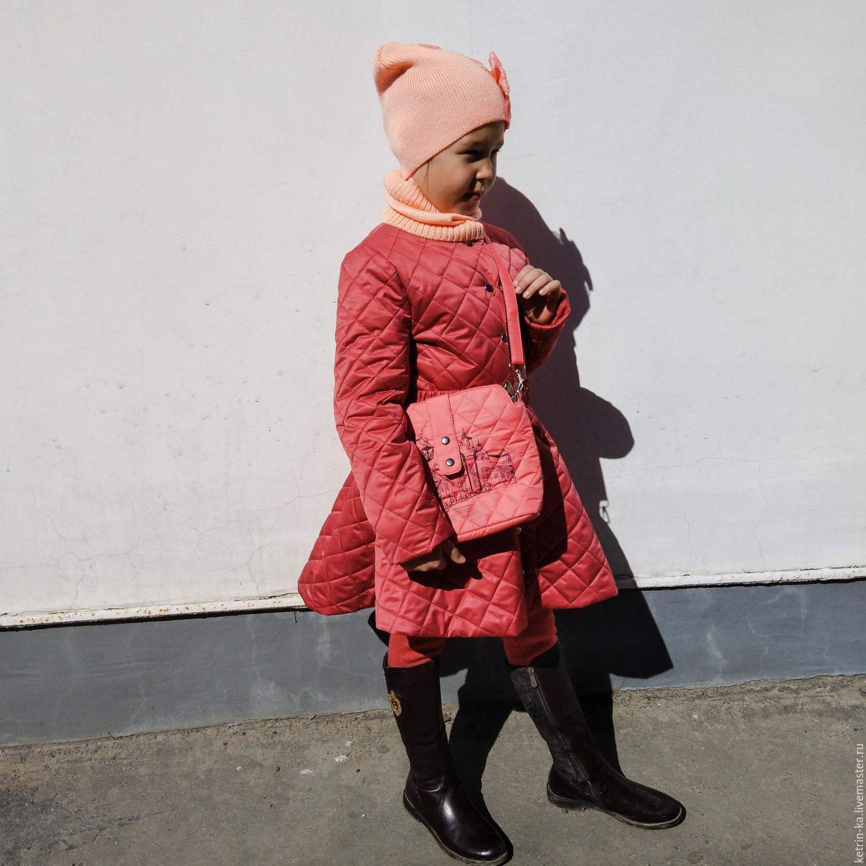 Стеганое пальто для девочки, Одежда, Пенза, Фото №1