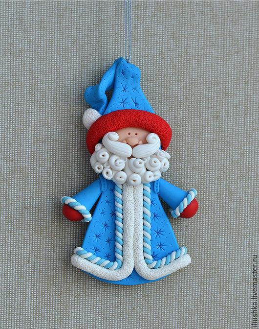 Сказочные персонажи ручной работы. Ярмарка Мастеров - ручная работа. Купить Дед Мороз (елочная игрушка). Handmade. Синий