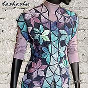 Одежда ручной работы. Ярмарка Мастеров - ручная работа Жилет Мозаика (пэчворк 3D). Handmade.